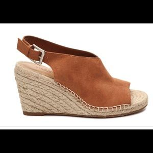 Crown Vintage Shanie cognac espadrille wedge
